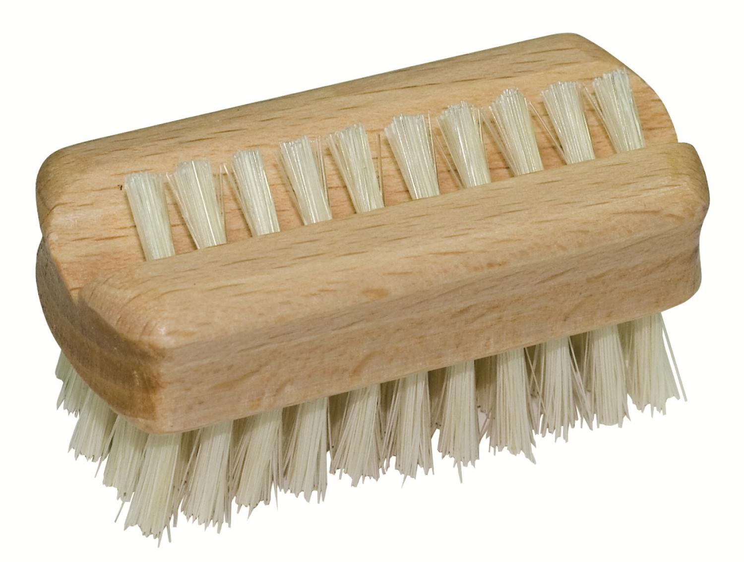 Beech Travel Nail Brush with upper row