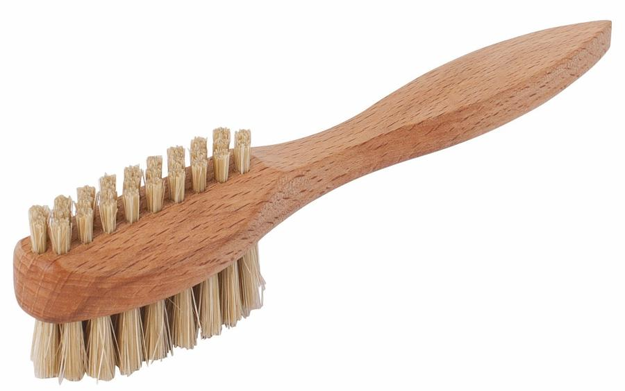 Nail Brush real bristle with handle