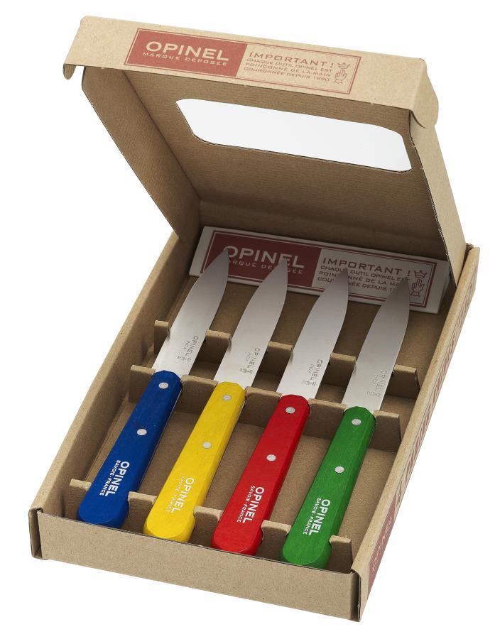 No.112 Plain Kitchen Paring Knives - Set of 4 - Classic Colours