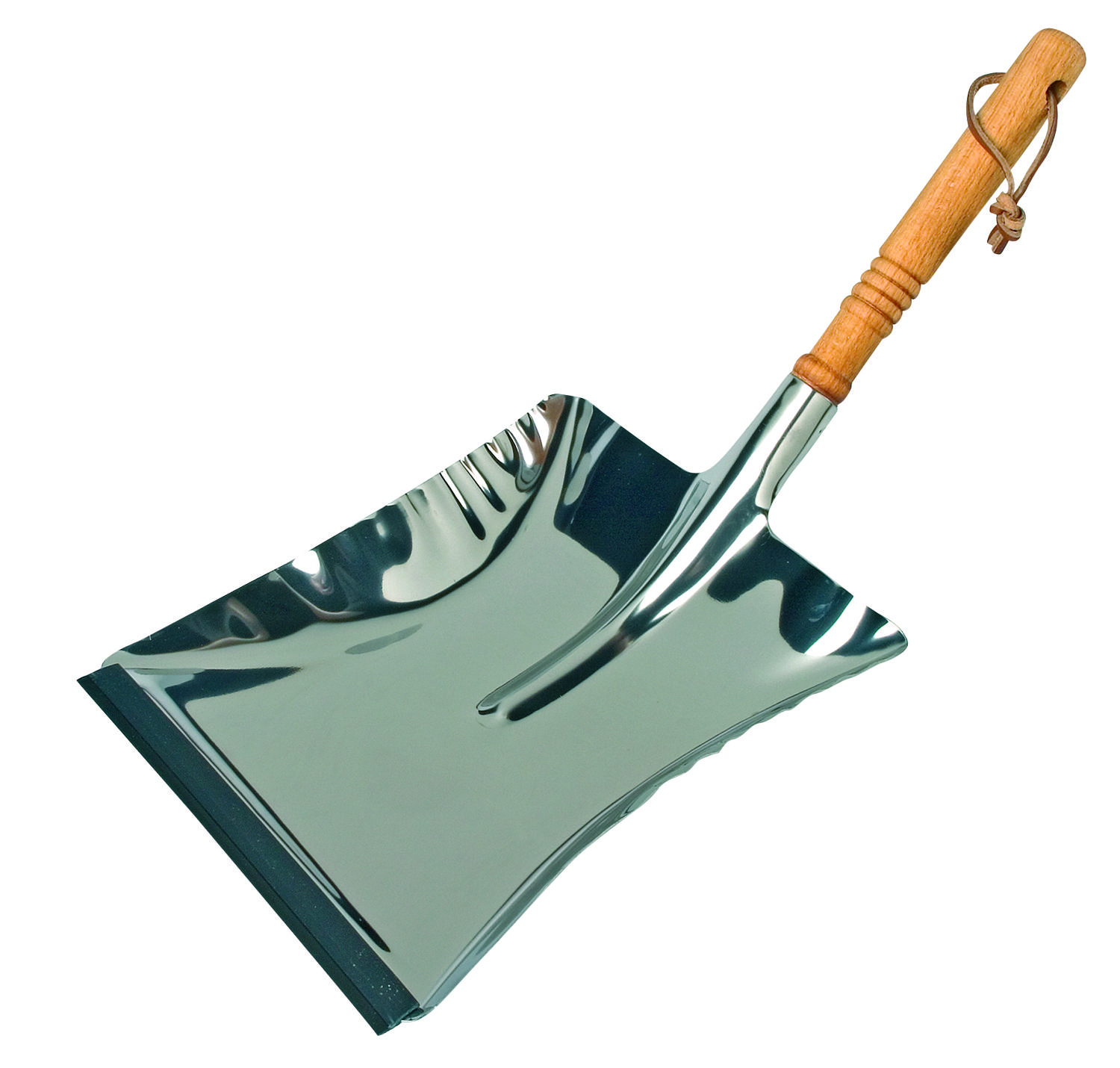 Dustpan - Stainless Steel with beech handle 45cm