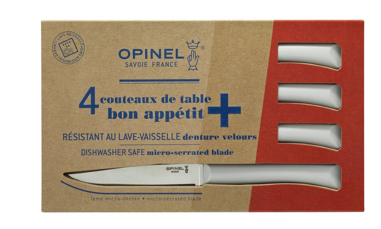 Bon Appétit - Serrated steak knives with polymer handle - Cloud White