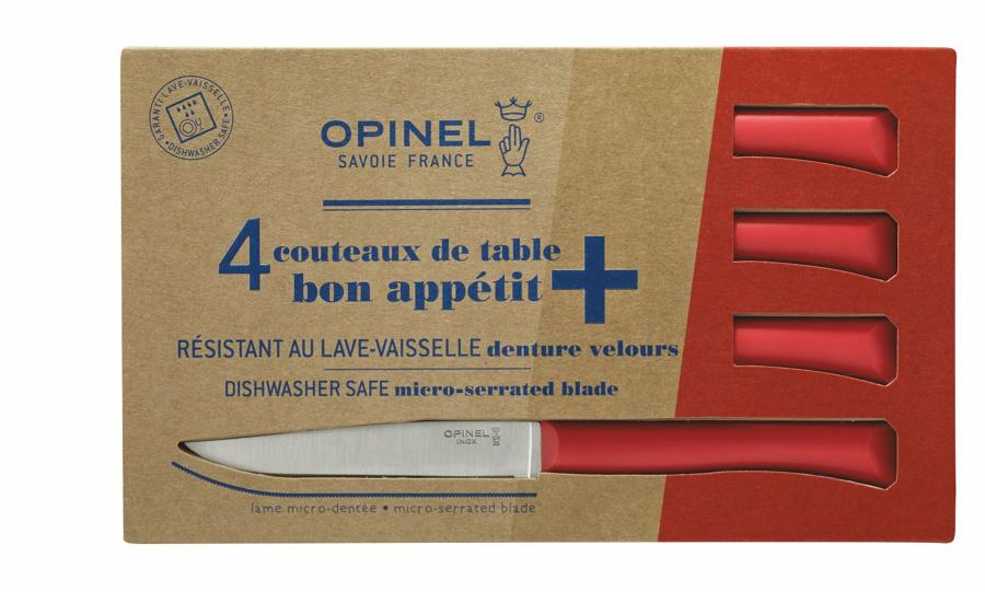 Bon Appétit - Serrated steak knives with polymer handle - Red