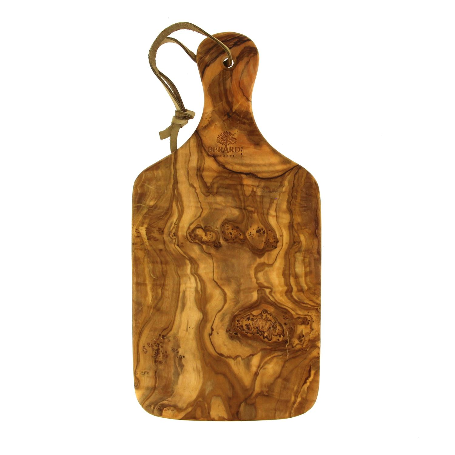Chopping Board in Olive wood with handle - Large