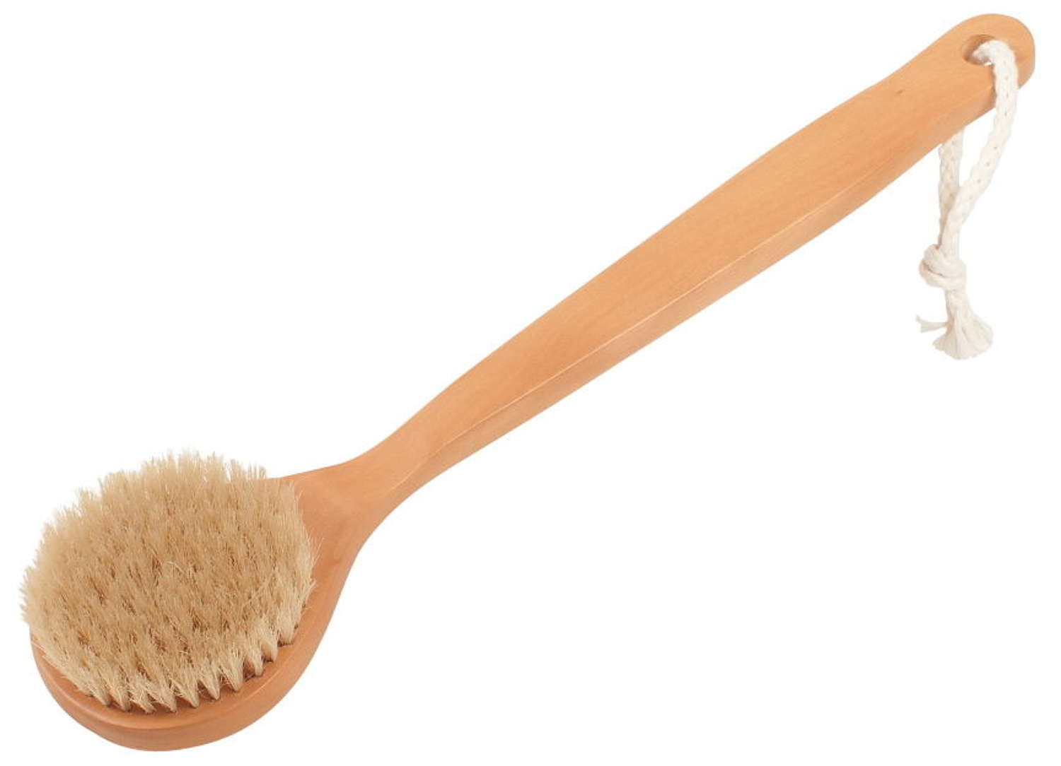Sauna brush with natural fibre bristles