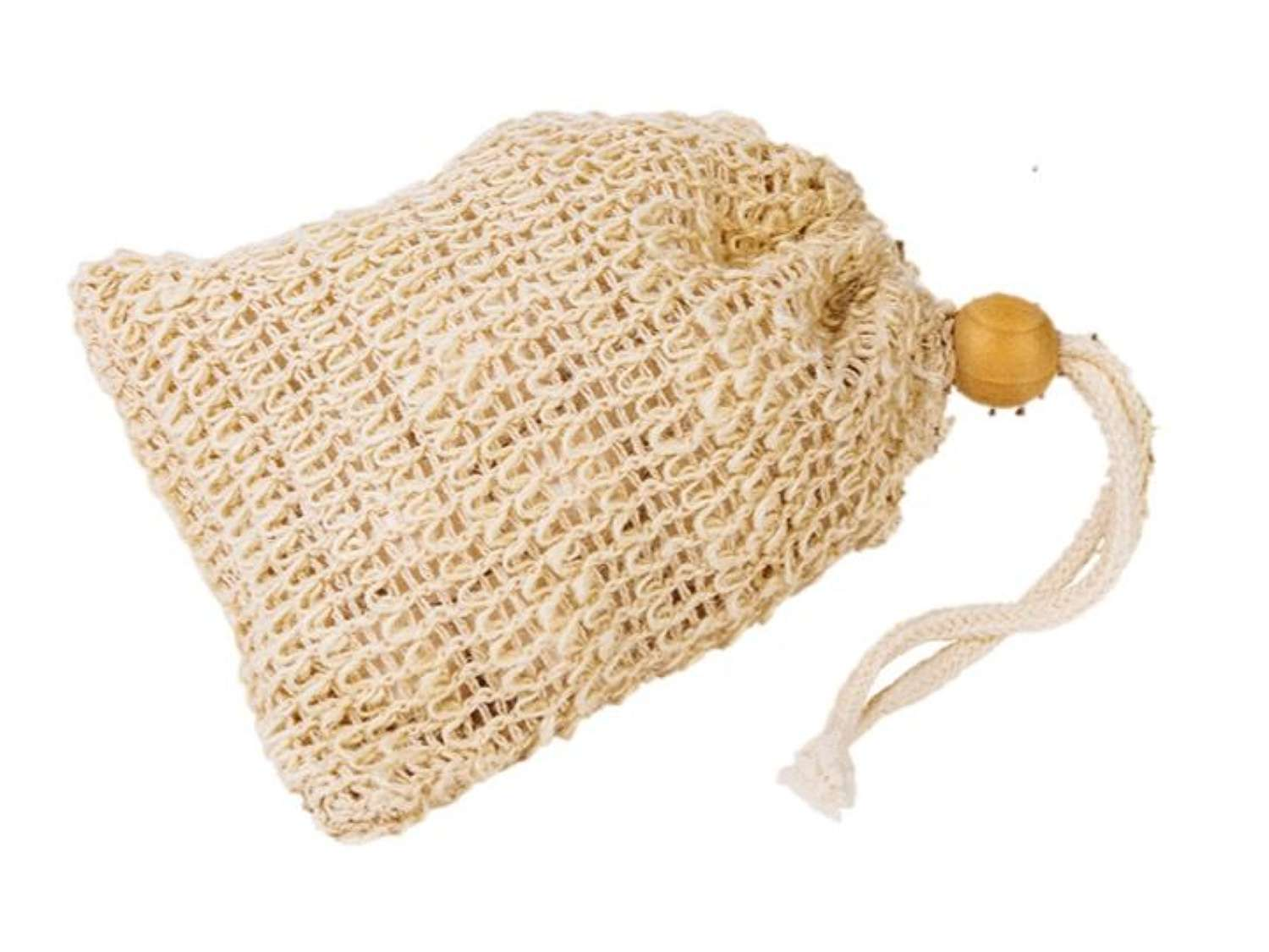 Sisal exfoliator bag for soap remnants