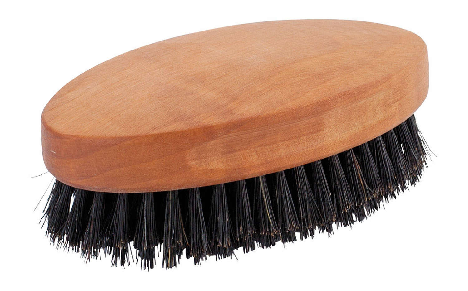 Men's hairbrush with no handle - real bristle and pearwood