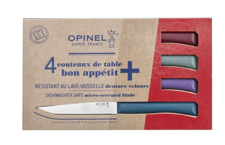 Bon Apetit - Set 4 Serrated table steak knives with polymer handle
